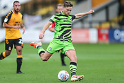 Forest Green Rovers Dayle Grubb(8) shoots at goal during the EFL Sky Bet League 2 match between Cambridge United and Forest Green Rovers at the Cambs Glass Stadium, Cambridge, England on 7 September 2019.