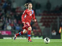 Fussball International, Nationalmannschaft   EURO 2012 Play Off, Qualifikation, Tschechische Republik - Montenegro        11.11.2011 Petr Jiracek (Tschechische Republik)
