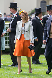 Princess Beatrice at Royal Ascot. Image ©Licensed to i-Images Picture Agency. 19/06/2014. Ascot, United Kingdom. Royal Ascot. Ascot Racecourse. Picture by i-Images