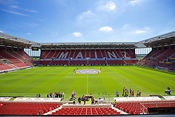 MAINZ, GERMANY - Sunday, August 7, 2016: A general view of the Open Arena before a pre-season friendly match between FSV Mainz 05 and Liverpool Arena. (Pic by David Rawcliffe/Propaganda)