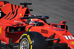 February 26, 2019 - Montmelo, BARCELONA, Spain - BARCELONA, SPAIN, 26th of February 2019. #16 Charles LECLERC driver of Ferrari F1 team during the winter test at Circuit de Barcelona Catalunya. (Credit Image: © AFP7 via ZUMA Wire)