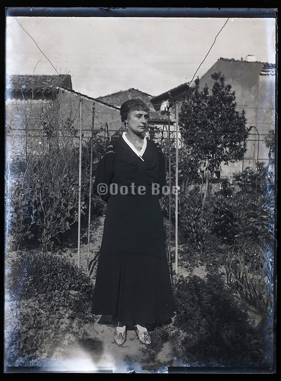 adult woman standing in the garden France 1933