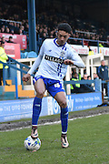 Burys Sean Clare on the ball during the Sky Bet League 1 match between Bury and Bradford City at the JD Stadium, Bury, England on 5 March 2016. Photo by Mark Pollitt.