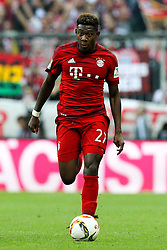 04.10.2015, Allianz Arena, Muenchen, GER, 1. FBL, FC Bayern Muenchen vs Borussia Dortmund, 8. Runde, im Bild David Alaba #27 (FC Bayern Muenchen), FC Bayern Muenchen vs. Borussia Dortmund, Fussball, 1.Bundesliga, 04.10.2015 // during the German Bundesliga 8th round match between FC Bayern Munich and Borussia Dortmund at the Allianz Arena in Muenchen, Germany on 2015/10/04. EXPA Pictures © 2015, PhotoCredit: EXPA/ Eibner-Pressefoto/ Kolbert<br /> <br /> *****ATTENTION - OUT of GER*****