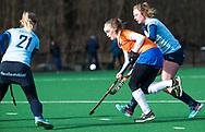 BLOEMENDAAL - Michelle van der Drift (Bldaal) hoofdklasse competitie dames, Bloemendaal-Nijmegen (1-1) COPYRIGHT KOEN SUYK