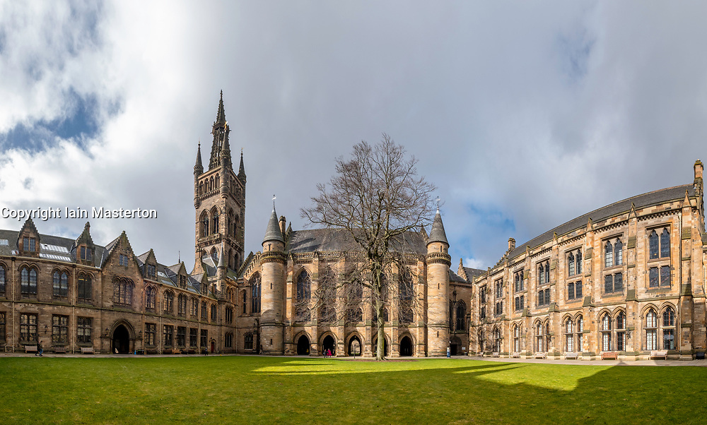 View of East Quadrangle at Glasgow University , Scotland, United Kingdom