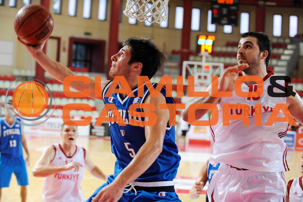 DESCRIZIONE : Teramo Giochi del Mediterraneo 2009 Mediterranean Games Italia Turchia Italy Turkey Preliminary Men<br /> GIOCATORE : Lorenzo D'Ercole<br /> SQUADRA : Nazionale Italiana Maschile<br /> EVENTO : Teramo Giochi del Mediterraneo 2009<br /> GARA : Italia Turchia Italy Turkey<br /> DATA : 30/06/2009<br /> CATEGORIA : tiro<br /> SPORT : Pallacanestro<br /> AUTORE : Agenzia Ciamillo-Castoria/G.Ciamillo