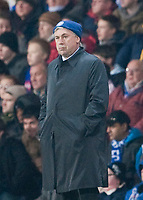 BLACKBURN, ENGLAND - Wednesday, December 2, 2009: Chelsea's manager Carlo Ancelotti during the Football League Cup Quarter-Final match against Blackburn Rovers at Ewood Park. (Photo by David Rawcliffe/Propaganda)