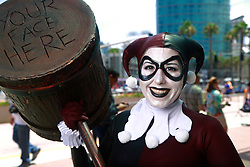 July 20, 2017 - San Diego, California, U.S. - MISTY ORZECHOWSKI of Los Angeles dressed as Harley Quinn at Comic-Con. (Credit Image: © K.C. Alfred/San Diego Union-Tribune via ZUMA Wire)