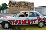 """Thomas Hirschhorn/France, """"Bataille Monument"""" (social art project, 2002). Free Shuttle from/to Binding Brewery exhibition site."""