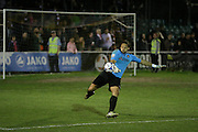 Ebbsfleet goalkeeper Nathan Ashmore during the National League South Play Off 1st Leg match between Whitehawk FC and Ebbsfleet United at the Enclosed Ground, Whitehawk, United Kingdom on 4 May 2016. Photo by Phil Duncan.
