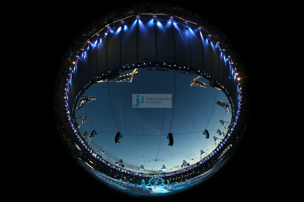 The Closing Ceremonies get ready to begin during day 16 of the London Olympic Games in London, England, United Kingdom on August 12, 2012..(Jed Jacobsohn/for The New York Times)..