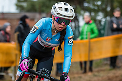 LAWSON Kelly (CAN) during Women Elite race, 2019 UCI Cyclo-cross World Cup Heusden-Zolder, Belgium, 26 December 2019. <br /> <br /> Photo by Pim Nijland / PelotonPhotos.com <br /> <br /> All photos usage must carry mandatory copyright credit (Peloton Photos | Pim Nijland)