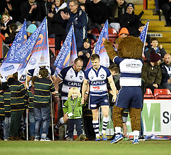 Bristol players emerge from the tunnel to face Nottingham in Greene King IPA Championship - Photo mandatory by-line: Paul Knight/JMP - Mobile: 07966 386802 - 06/03/2015 - SPORT - Rugby - Bristol - Ashton Gate Stadium - Bristol Rugby v Nottingham - Greene King IPA Championship