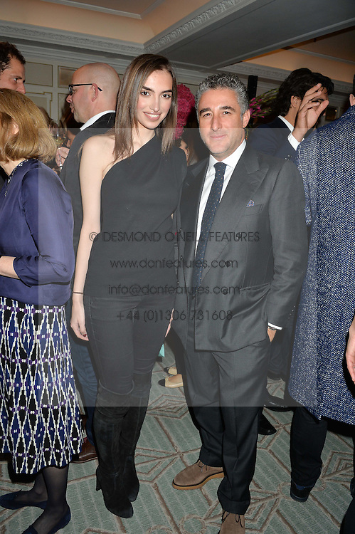 LUCA DEL BONO and NAZRIN IBADOVA at a party hosted by Ewan Venters CEO of Fortnum & Mason to celebrate the launch of The Cook Book by Tom Parker Bowles held at Fortnum & Mason, 181 Piccadilly, London on 18th October 2016.
