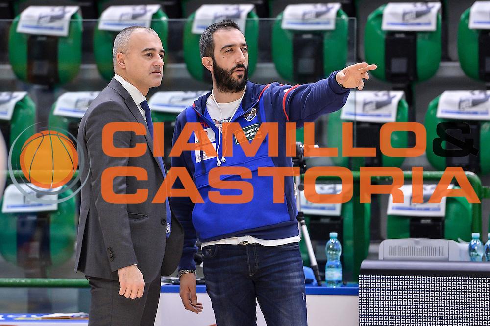 Luigi Peruzzu, Marco Sodini<br /> Banco di Sardegna Dinamo Sassari - Red October Pallacanestro Cantù<br /> LegaBasket Serie A Poste Mobile 2016/2017<br /> Sassari 12/02/2017<br /> Foto Ciamillo-Castoria