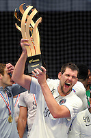 Victoire PSG - Jakov Gojun - 26.04.2015 - Handball - Nantes / Paris Saint Germain - Finale Coupe de France<br /> Photo : Andre Ferreira / Icon Sport