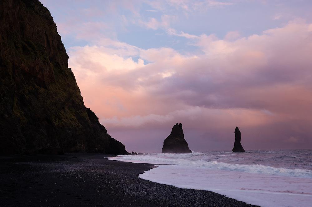 Cliff at Vik beach, Iceland