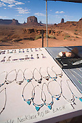 Tourquiose and silver jewelry, Monument Valley, Arizona, USA