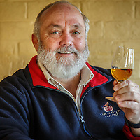Lark Distillery founder Bill Lark drinks a pour of Lark Classic Cask Single Malt Whisky at The Lark Cellar Door in Hobart, Tasmania, August 25, 2015. Gary He/DRAMBOX MEDIA LIBRARY