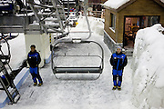 "Dubai, United Arab Emirates (UAE). January 30th 2009..""Ski Dubai"", inside the Mall of the Emirates, is the first indoor ski resort in the Middle East and offers an amazing snow setting to enjoy skiing, snowboarding and tobogganing, or just playing in the snow all year round."