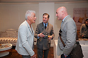 NICKY HASLAM; JEREMY HACKETT; TY JEFFREYS; , Book launch party for the paperback of Nicky Haslam's book 'Sheer Opulence', at The Westbury Hotel. London. 21 April 2010