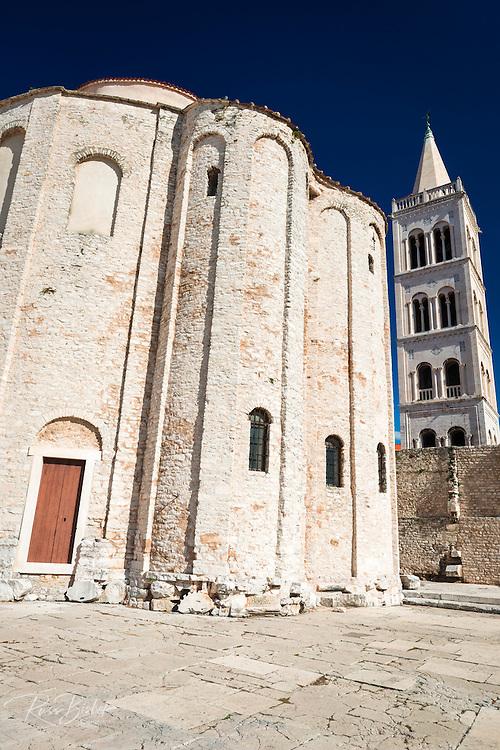 St. Donatus Church and St. Anastasia Cathedral bell tower, Zadar, Dalmatian Coast, Croatia