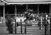 "07/08/1987<br /> 08/07/1987<br /> 07 August 1987<br /> Bank of Irelands Nations Cup for the Aga Khan trophy competition. Eddie Macken (Ireland) on ""Carroll's Flight""."