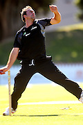 Mark Gillespie bowls.<br /> National Bank Test Match Series, New Zealand v England, Black Caps Nets Practice. Allied Prime Basin Reserve, New Zealand. Wednesday, 12 March 2008. Photo: Dave Lintott/PHOTOSPORT