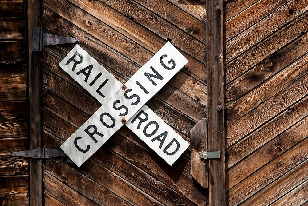 Rail Road Crossing sign, Silverton, Colorado.