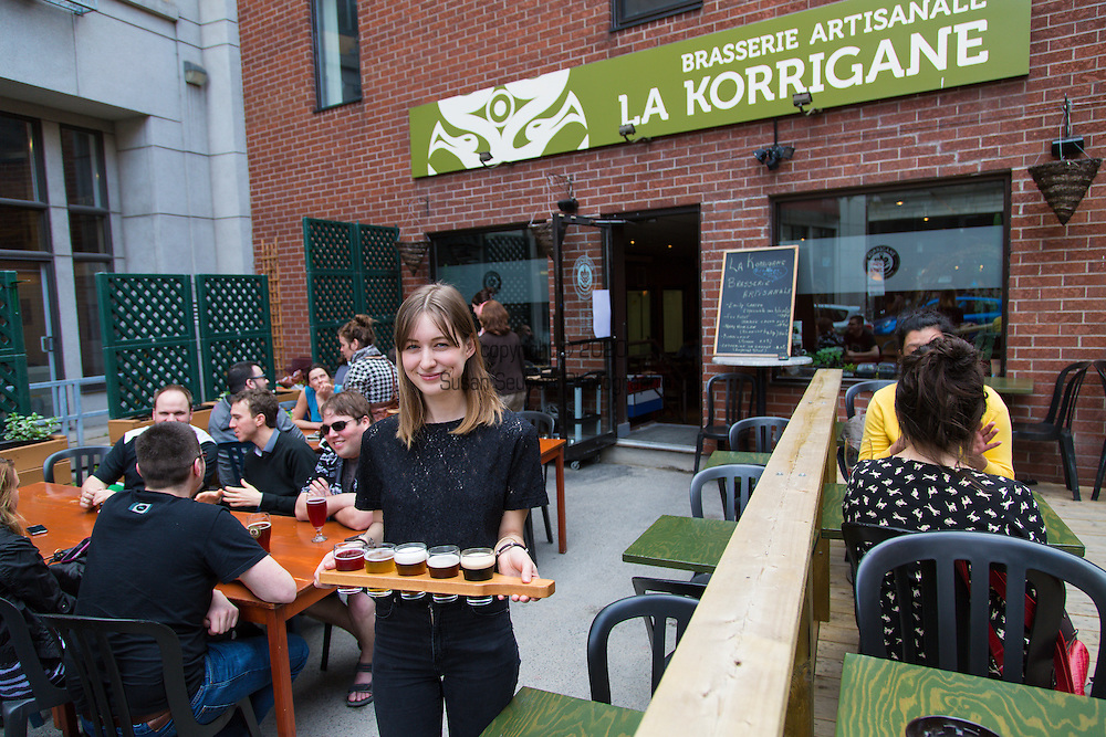 The Korrigane Brewery located in the hip Quartier Saint Roch brews several kinds of beer, including seasonal beers that include local fruit like blueberries and locally grown hops.