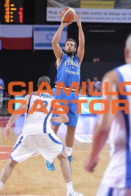 DESCRIZIONE : Anversa European Basketball Tour Antwerp 2013 Italia Israele Italy Israel<br /> GIOCATORE : Marco Belinellli<br /> CATEGORIA : Three points<br /> SQUADRA : Nazionale Italia Maschile Uomini<br /> EVENTO : European Basketball Tour Antwerp 2013 <br /> GARA : Italia Israele Italy Israel<br /> DATA : 18/08/2013<br /> SPORT : Pallacanestro<br /> AUTORE : Agenzia Ciamillo-Castoria/GiulioCiamillo<br /> Galleria : FIP Nazionali 2013<br /> Fotonotizia : Anversa European Basketball Tour Antwerp 2013 Italia Israele Italy Israel<br /> Predefinita :
