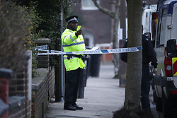 © Licensed to London News Pictures. 09/01/2018. Stockport, UK. Police and crime scene investigators are investigating the historical disappearance of a man and are digging up the garden of a house on Matlock Road in Reddish after a 63 year old woman handed herself in to Cheadle Heath Police Station . Photo credit: Joel Goodman/LNP