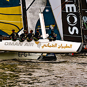Oman Air - 2018 (OMA)<br /> After a third place podium finish in 2017, the Omani outfit plans on climbing the ranks in this year's Series. World Match Racing Champion Phil Robertson returns to the helm of Oman Air for a second time, with hopes of leading his experienced team to victory in 2018.<br /> <br /> Mainsail trimmer for the team is Pete Greenhalgh, an Extreme Sailing Series™ veteran who has competed on the circuit since 2007, including a total of four Series wins. Stewart Dodson takes the Headsail, having moved to the Omani team this year from Red Bull Sailing Team. Omani Nasser Al Mashari and Aussie James Wierzbowski are on the bow, both seasoned professionals on the Extreme Sailing Series™ circuit.