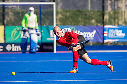 Holcombe's Martin Robbins. Holcombe v Team Bath Buccaneers - Now: Pensions Finals Weekend, Lee Valley Hockey & Tennis Centre, London, UK on 12 April 2015. Photo: Simon Parker