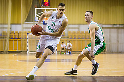 Zan Mark Sisko of KD Ilirija during basketball match between KK Ilirija and KK Krka in Round #5 of Liga Nova KBM 2017/18, on November 4, 2017 in Hala Tivoli, Ljubljana, Slovenia. Photo by Ziga Zupan / Sportida
