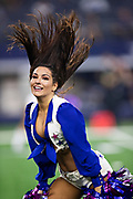ARLINGTON, TX - OCTOBER 14:  Dallas Cowboy Cheerleaders perform during a game against the Jacksonville Jaguars at AT&T Stadium on October 14, 2018 in Arlington, Texas.  The Cowboys defeated the Jaguars 40-7.  (Photo by Wesley Hitt/Getty Images) *** Local Caption ***