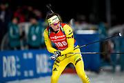 &Ouml;STERSUND, SVERIGE - 2017-12-02: Martin Ponsiluoma  under herrarnas sprint t&auml;vling under IBU World Cup Skidskytte p&aring; &Ouml;stersunds Skidstadion den 2 december 2017 i &Ouml;stersund, Sverige.<br /> Foto: Johan Axelsson/Ombrello<br /> ***BETALBILD***