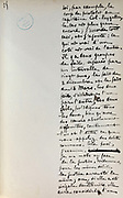 Handwritten notes for a speech supporting a bill offering amnesty to the communards (participants in the Paris Commune), 1876, page 25, by Victor Hugo, 1802-85, French writer, housed in the Archives du Senat, in the Senate in the Palais du Luxembourg, 6th arrondissement, Paris, France. Hugo was a senator for Seine 1876-85, and gave this speech on 22nd May 1876. Although this bill was not passed, a general amnesty was granted in 1880. Picture by Manuel Cohen