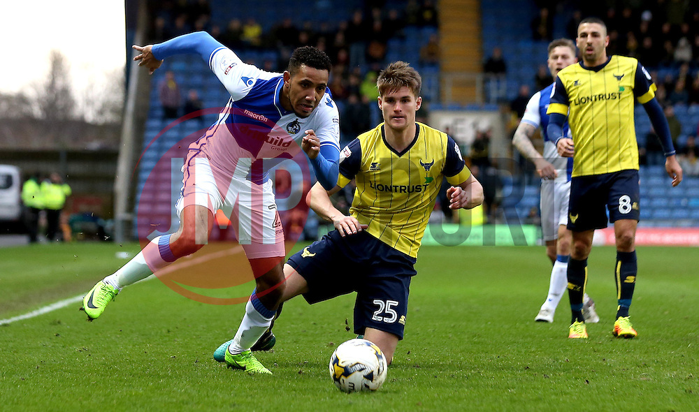Cristian Montano of Bristol Rovers goes past Charlie Raglan of Oxford United - Mandatory by-line: Robbie Stephenson/JMP - 04/03/2017 - FOOTBALL - Kassam Stadium - Oxford, England - Oxford United v Bristol Rovers - Sky Bet League One