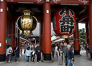 The Hozomon gate at the Senso-ji temple, Asakusa.