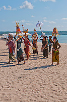 Funeral procession on the beach in Jimbaran, Bali, Indonesia