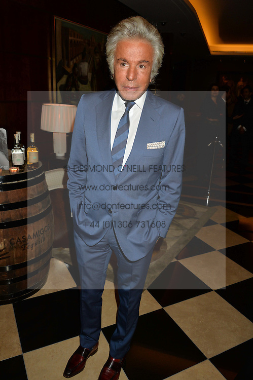GIANCARLO GIAMMETTI at the London launch of Casamigos Tequila hosted by Rande Gerber, George Clooney & Michael Meldman and to celebrate Cindy Crawford's new book 'Becoming' held at The Beaumont Hotel, Brown Hart Gardens, 8 Balderton Street, London on 1st October 2015.
