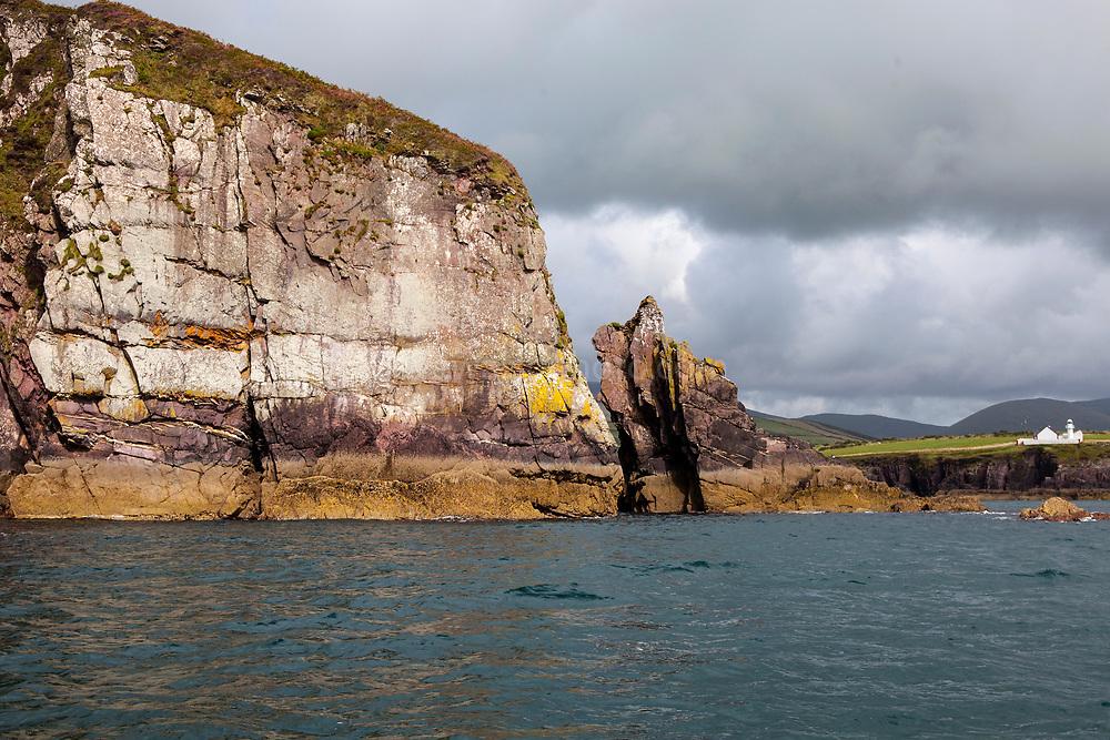 Lighthouse built in 1887, Dingle Bay and coastline, Ireland