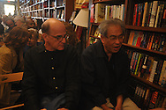 Richard Howorth (left) at the 18th annual Oxford Conference for the Book at Thacker Mountain Radio in Oxford, Miss. on Thursday, March 24, 2011.