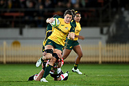 SYDNEY, AUSTRALIA - JULY 19: Grace Hamilton (8) of the Wallaroos breaks the defense during the second rugby test match between the Australian Wallaroos and Japan on July 19, 2019 at North Sydney Oval in Sydney, Australia. (Photo by Speed Media/Icon Sportswire)