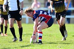 Sarah Bern of Bristol Ladies scores a try - Mandatory by-line: Dougie Allward/JMP - 26/03/2017 - RUGBY - Cleve RFC - Bristol, England - Bristol Ladies v Wasps Ladies - RFU Women's Premiership