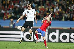 07.07.2010, Moses Mabhida Stadium, Durban, SOUTH AFRICA, Deutschland ( GER ) vs Spanien ( ESP ) im Bild Per Mertesacker of Germany.Foto ©  nph /  Kokenge / SPORTIDA PHOTO AGENCY