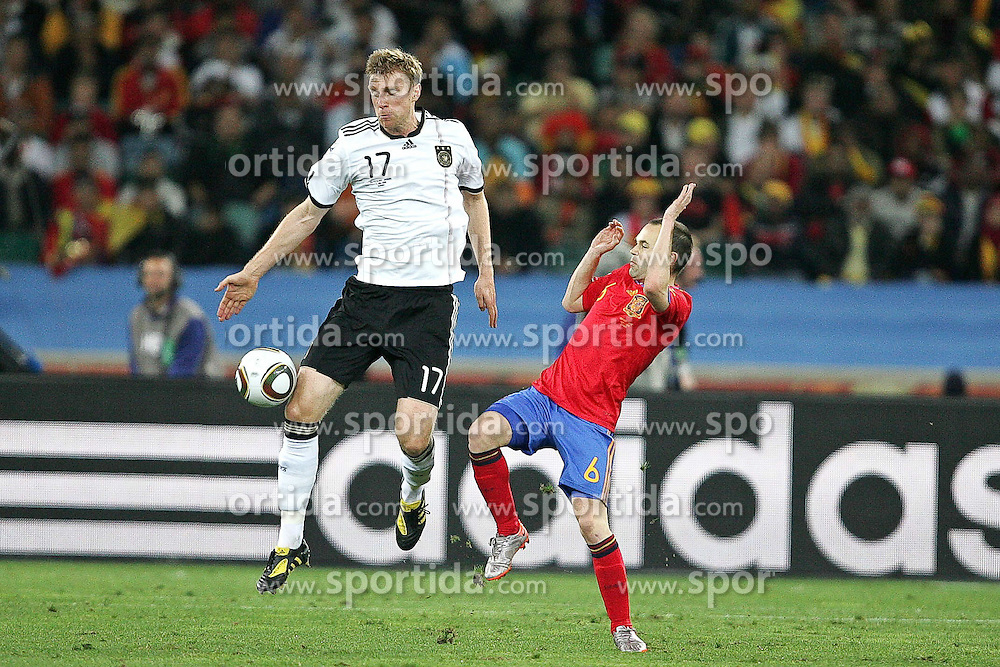 07.07.2010, Moses Mabhida Stadium, Durban, SOUTH AFRICA, Deutschland ( GER ) vs Spanien ( ESP ) im Bild Per Mertesacker of Germany.Foto ©  nph /  Kokenge / SPORTIDA PHOTO AGENCY