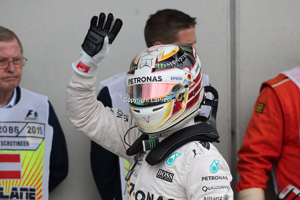 &copy; Photo4 / LaPresse<br /> 20/06/2015 Spielberg, Austria<br /> Sport <br /> Grand Prix Formula One Austria 2015<br /> In the pic: Qualifying, Lewis Hamilton (GBR) Mercedes AMG F1 W06